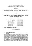 Báo cáo đánh giá tác động môi trường: Sử dụng năng lượng hạt nhân vì mục đích hòa bình (nhóm 3)