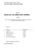 Tiểu luận Đánh giá tác động môi trường: Sử dụng phương pháp nghiên cứu trong việc xác định vấn đề môi trường quan trọng (Nhóm 2)