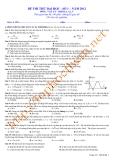 Đề thi thử đại học môn Vật lý - Khối A, A1, V: Đề số 1