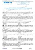 Chuyên đề LTĐH môn Hóa học: Nâng cao-Kim loại tác dụng với phi kim