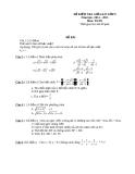 Đề kiểm tra môn Toán giữa kì I lớp 9