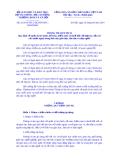 Thông tư liên tịch Số: 29/2014/TTLT-BGDĐT-BTC-BLĐTBXH