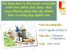 Đề tài: Tác dụng dược lý đảo ngược trong phát triển thực phẩm chức năng / thảo dược: Phương pháp tiếp cận, khuôn khổ và trường hợp nghiên cứu