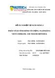 Đồ án Nghiệp vụ ngân hàng 1: Phân tích tình hình tín dụng ngân hàng Vietcombank – chi nhánh Biên Hòa