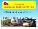 Bài giảng Đường lối Cách mạng của Đảng Cộng sản Việt Nam: Chương IV - ThS. Dương Thị Thanh Hậu