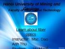 Đề tài: Learn about fiber optics Optical