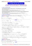 Toán học lớp 11: Phương pháp quy nạp Toán học - Thầy Đặng Việt Hùng