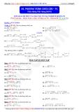 Toán học lớp 10: Phương trình chứa căn (Phần 1) - Thầy Đặng Việt Hùng
