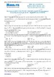 Chuyên đề LTĐH môn Vật lý: Dòng điện xoay chiều qua mạch RLC không phân nhánh (Đề 1)