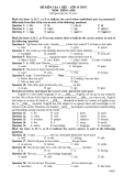 6 Đề kiểm tra 1 tiết lớp 10 môn Tiếng Anh
