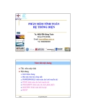Bài giảng Phần mềm tính toán hệ thống điện - TS. Nguyễn Đăng Toàn