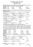 6 Đề kiểm tra 1 tiết môn Tiếng Anh lớp 10