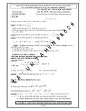 Đề thi thử môn Toán THPT học kỳ I - Đề số 09