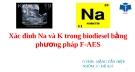 Thuyết trình: Xác đinh Na và K trong biodiesel bằng phương pháp F-AES