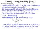 Bài giảng Kỹ thuật cao áp: Chương 1 Phóng điện vầng quang