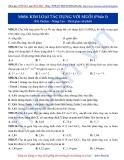 Luyện thi ĐH môn Hóa học 2015: Nâng cao-Kim loại tác dụng với muối (phần 1)