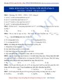 Luyện thi ĐH môn Hóa học 2015: Cơ bản-Kim loại tác dụng với muối (phần 1)