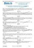 Chuyên đề LTĐH môn Vật lý: Giá trị hiệu dụng của điện áp và dòng điện xoay chiều