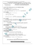 Đề thi thử môn Toán - Kỳ thi tốt nghiệp THPT: Đề số 21