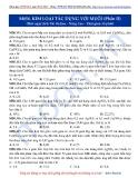 Luyện thi ĐH môn Hóa học 2015: Nâng cao-Kim loại tác dụng với muối (phần 2)