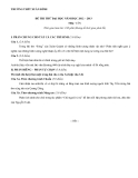Đề thi thử Đại học môn Văn năm 2012-2013 - THPT Xuân Đỉnh
