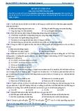 Luyện thi đại học KIT 2 môn Sinh học: Đề số 9 - GV. Nguyễn Quang Anh