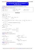 Luyện thi Đại học môn Toán 2015: Hệ phương trình mũ và logarith (phần 1) - Thầy Đặng Việt Hùng