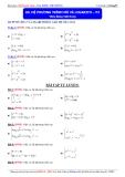 Luyện thi Đại học môn Toán 2015: Hệ phương trình mũ và logarith (phần 3) - Thầy Đặng Việt Hùng