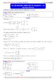 Luyện thi Đại học môn Toán 2015: Hệ phương trình mũ và logarith (phần 2) - Thầy Đặng Việt Hùng