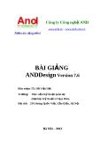 Bài giảng AndDesign Version 7.6 - TS. Hồ Việt Hải