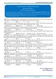 Hóa 12: Các dạng toán lý thuyết nhóm IA, IIA (Bài tập tự luyện) - GV. Phùng Bá Dương