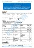 Hóa 12: Khái niệm-danh pháp-tính chất-điều chế amino axit (Tài liệu bài giảng) - GV. Phùng Bá Dương