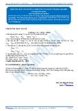 Hóa 12: Phản ứng cháy của Gluxit và phản ứng của Gluxit với kim loại kiềm (Tài liệu bài giảng) - GV. Phùng Bá Dương