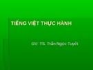 Đề tài Tiếng Việt thực hành: Phong cách văn bản thông tấn báo chí - GV: TS. Trần Ngọc Tuyết