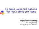 Bài giảng Sự đồng hành của báo chí với hoạt động của HĐND - Nguyễn Quốc Thắng
