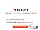Bài giảng Vtranet phần mềm Quản lý doanh nghiệp xuất nhập khẩu