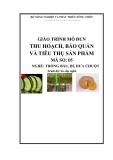 Giáo trình Thu hoạch, bảo quản và tiêu thụ sản phẩm - MĐ05: Trồng bầu, bí, dưa chuột