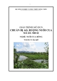 Giáo trình Chuẩn bị ao, ruộng nuôi cua - MĐ02: Nuôi cua đồng