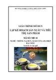 Giáo trình Lập kế hoạch sản xuất và tiêu thụ sản phẩm - MĐ01: Trồng xạ đen, giảo cổ lam, diệp hạ châu