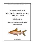 Giáo trình Xây dựng ao nuôi, bè cá lăng, cá chiên - MĐ01: Nuôi cá lăng, cá chiên