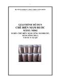 Giáo trình Chế biến mắm ruốc - MĐ02: Chế biến mắm nêm, mắm ruốc, mắm tôm chua