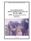 Giáo trình Phòng trị bệnh cho trâu bò - MĐ08: Chăn nuôi và phòng trị bệnh cho trâu bò