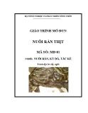 Giáo trình Nuôi rắn thịt - MĐ01: Nuôi rắn, kỳ đà, tắc kè