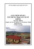 Giáo trình Xây dựng trại sản xuất giống - MĐ03: Sản xuất giống và nuôi hàu Thái Bình Dương