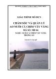 Giáo trình Chăm sóc và quản lý ao nuôi cá chim vây vàng - MĐ04: Nuôi cá chim vây vàng trong ao