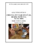Giáo trình Cho cua ăn và quản lý ao, ruộng nuôi cua - MĐ04: Nuôi cua đồng