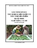 Giáo trình Thu hoạch, bảo quản và tiêu thụ sản phẩm - MĐ05: Trồng cây bơ