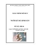 Giáo trình Nuôi kỳ đà sinh sản - MĐ04: Nuôi rắn, kỳ đà, tắc kè