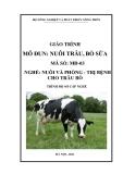 Giáo trình Nuôi trâu, bò sữa - MĐ03: Chăn nuôi và phòng trị bệnh cho trâu bò