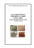 Giáo trình Chế biến cá khô - MĐ03: Chế biến hải sản khô